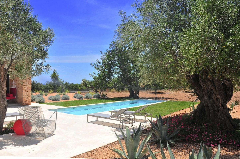 Gran piscina al jardí