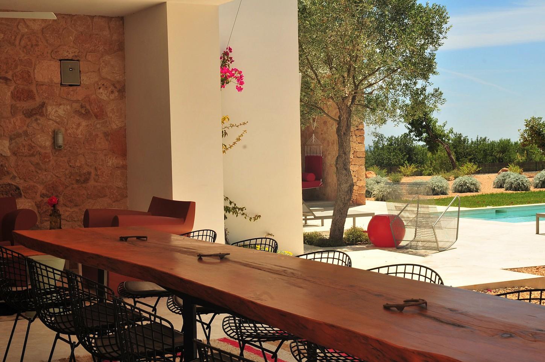 Большая кухня виллы в аренду в Сан Рафаэль