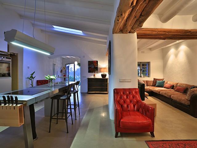 Кухня и столовая дома в аренду в Санта Жертрудис
