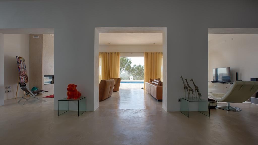 Vistas interiores de la casa