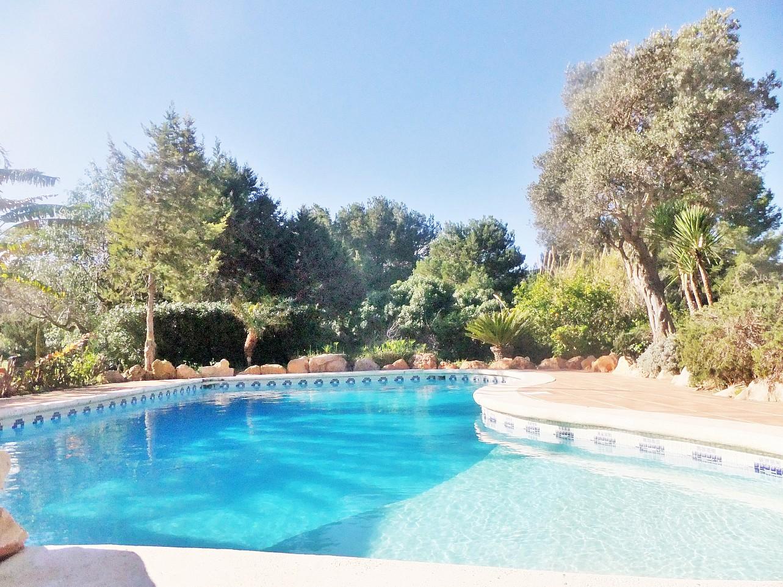 Сад с бассейном дома в аренду рядом с Сан Хосе