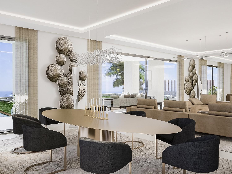 Продается новая строительная вилла в урбанизации Сьерра-Бланка, Марбелья, Малага