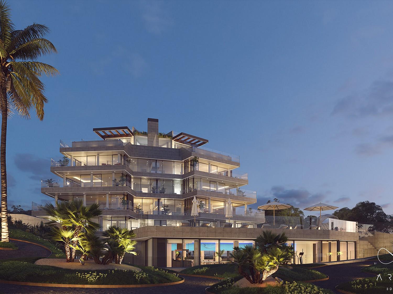 Новые квартиры на первой линии пляжа в Эстепоне