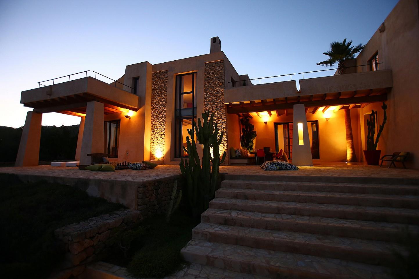 Magnífica iluminación de la casa