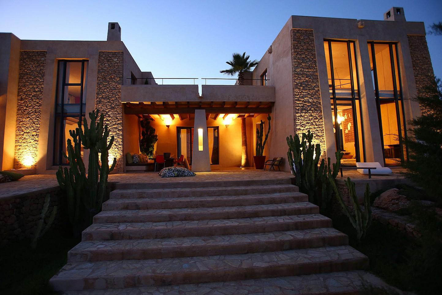 Fantástica iluminación de la villa