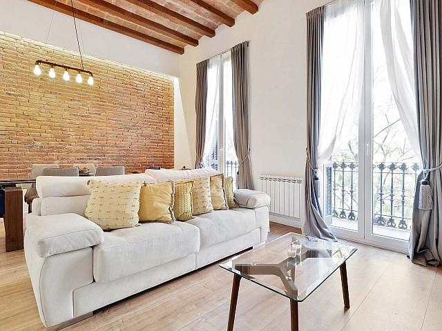 Mietwohnung in Fort Pien Barcelona zum Einzug eingerichtet