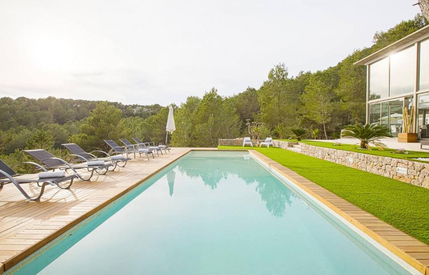 Vistas de la gran piscina
