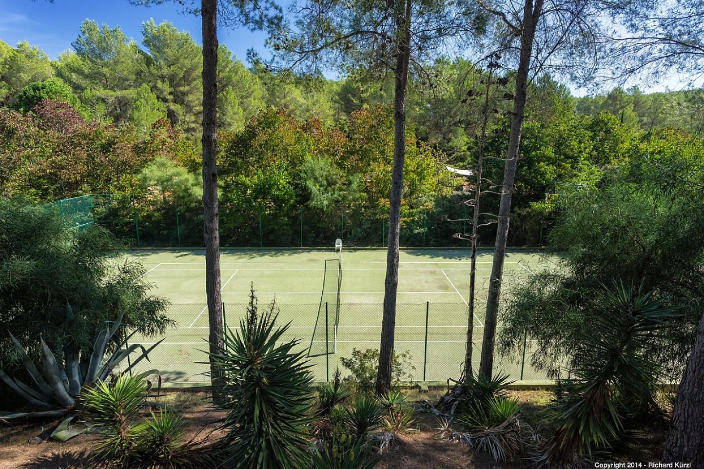 Magníficas vistas de la pista de tenis