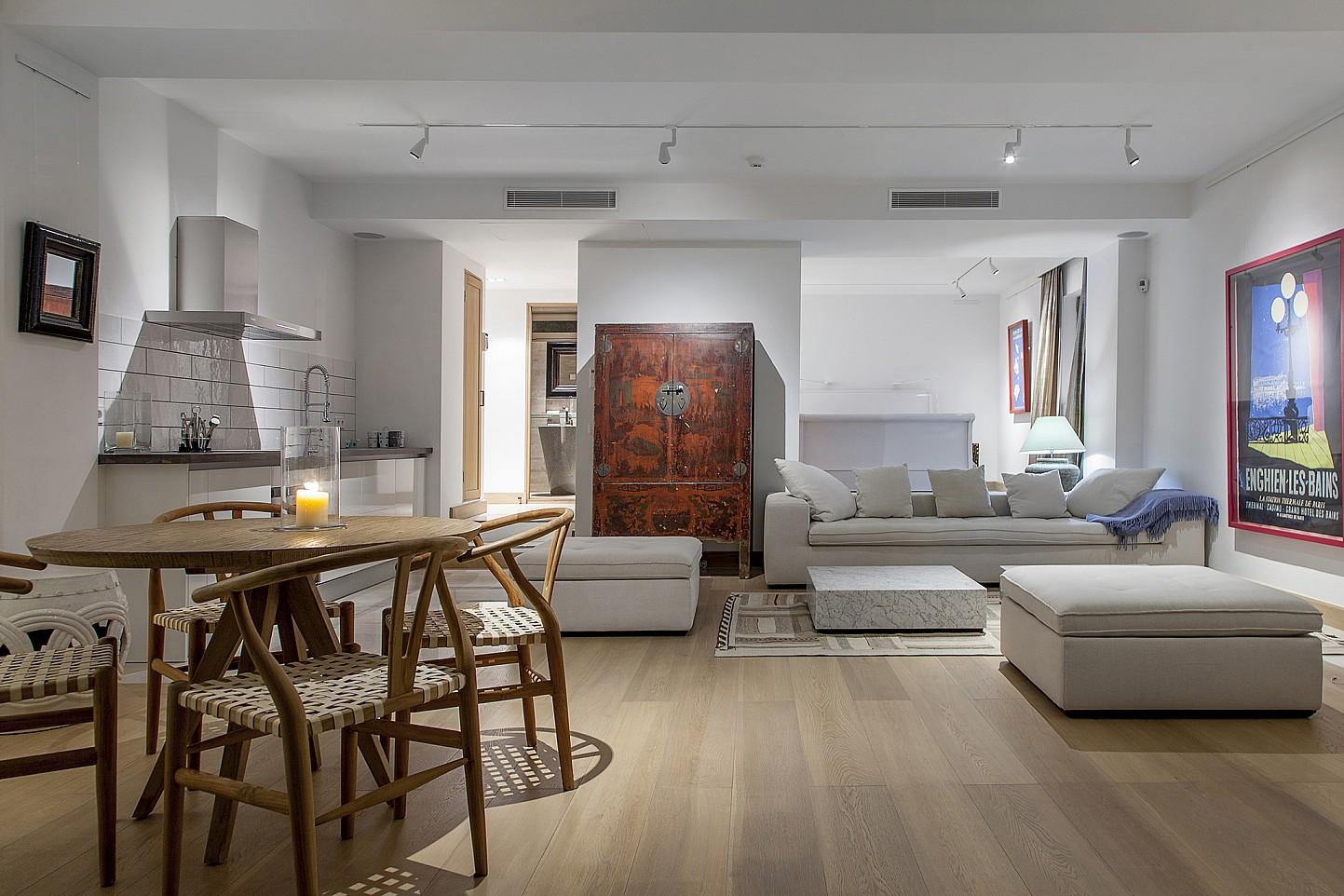 Sala de estar con acceso al exterior