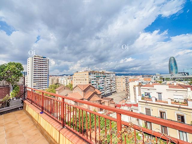 巴塞羅那擴展區頂層公寓,坐擁美景