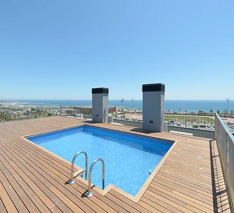 Vistas al mar desde la gran terraza soleada