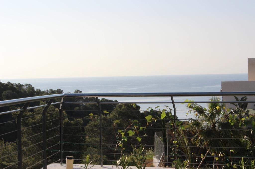 Esplèndides vistes al mar des d'una de les terrasses