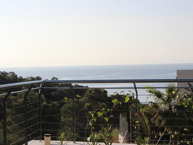 Espléndidas vistas al mar desde una de las terrazas