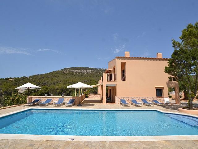 Magnífica casa rústica en lloguer amb vistes a Cala Vadella, Eivissa
