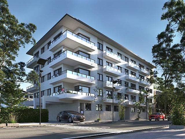 Two-bedroom apartment in new construction in Pineda de Mar.