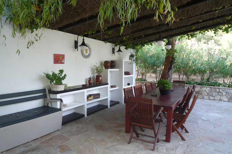 Потрясающая терраса дома в Амелья де Мар