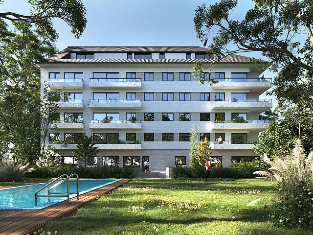 Cobertura duplex de dois quartos em construção nova em Pineda de Mar.