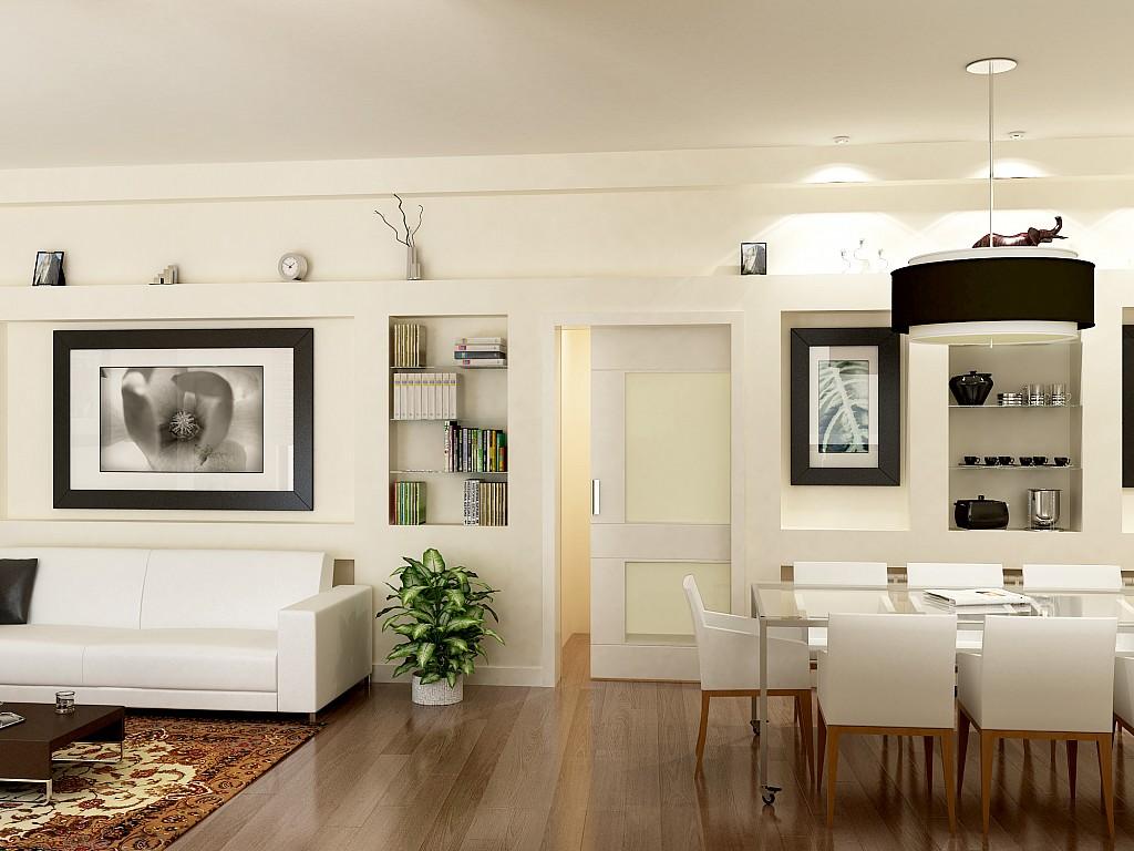 Vistes interiors del pis amb la reforma