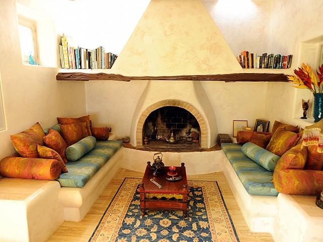 Шикарная гостиная виллы на Ибице