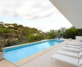 Minimalista villa de lujo con vistas al mar y a la puesta de sol, Ibiza