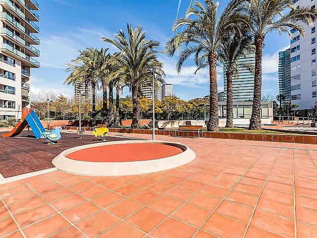 Wunderschöne Terrasse der Luxus-Wohnung zum Verkauf im Paseo de Garcia Faria, Diagonal Mar