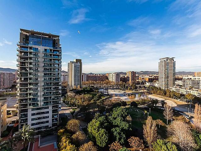 luxuriöse Aussicht der Luxus-Wohnung zum Verkauf in Diagonal Mar