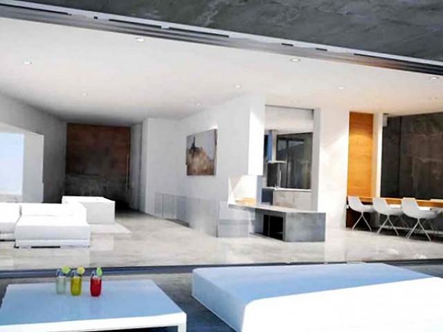 bright, white, light, modern, design, kitchen, dining room, living room, terrace