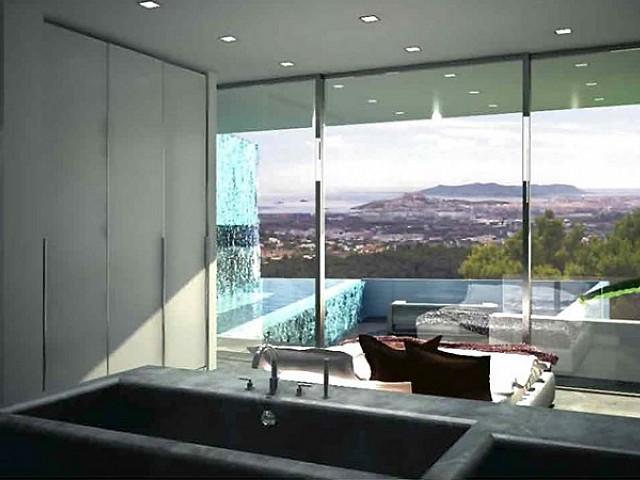 bright, white, light, modern, design, window, living room