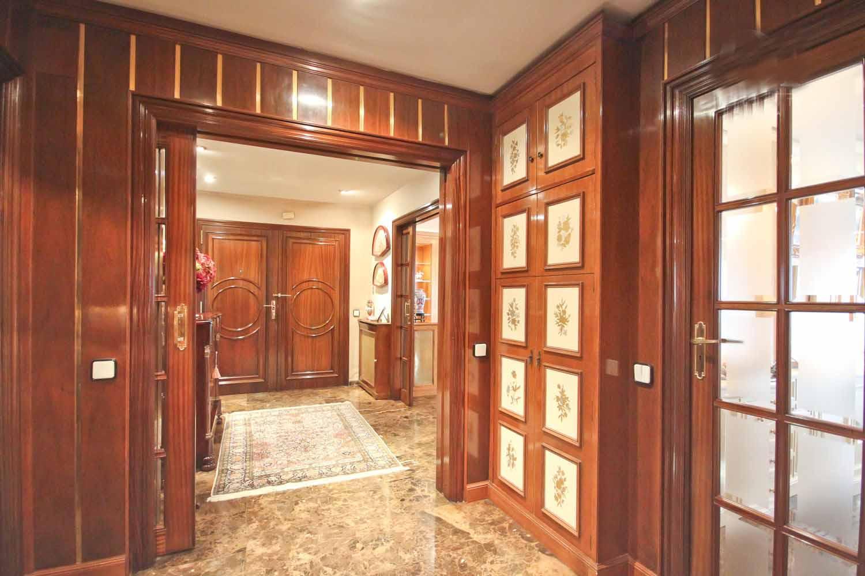 hall, wood, door, vintage