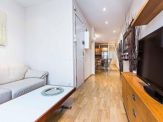 Lumineux salon dans un appartement luxueux en vente à Sagrada familia à Barcelone