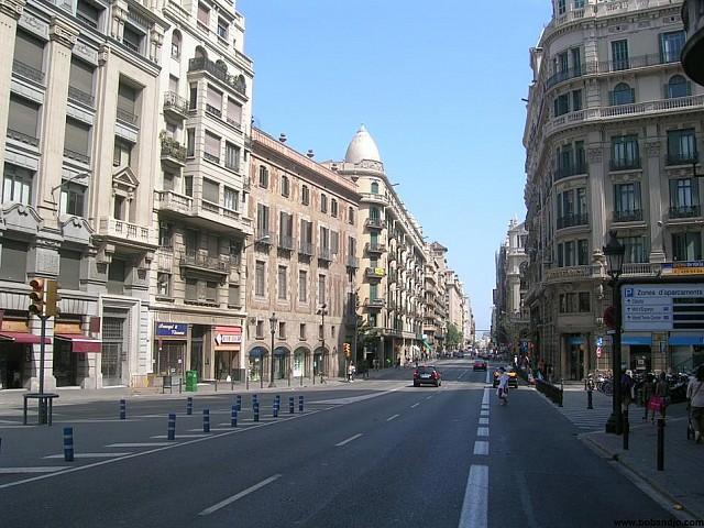 Klassisches Gebäude im Zentrum Barcelonas