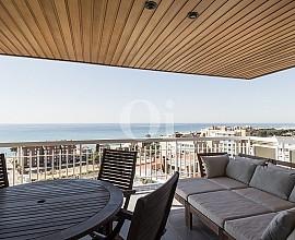 Apartamento en venta con espectaculares vistas al mar en Sant Vicenç de Montalt, Maresme