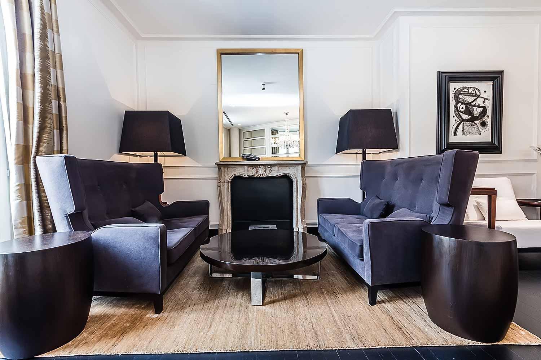 Lumineux salon dans un luxueux appartement en vente a Eixample Barcelone