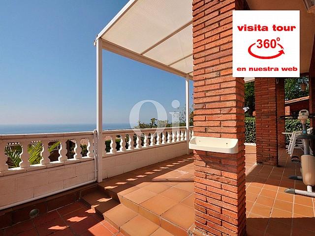 Einfamilienhaus zum Verkauf mit Aussicht zum Meer in Premià de Dalt, Maresme.