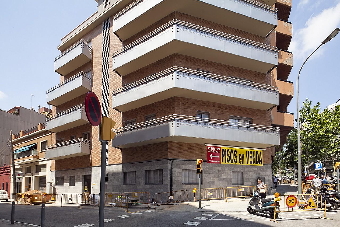 Fachada, piso, apartamento, bloque de pisos