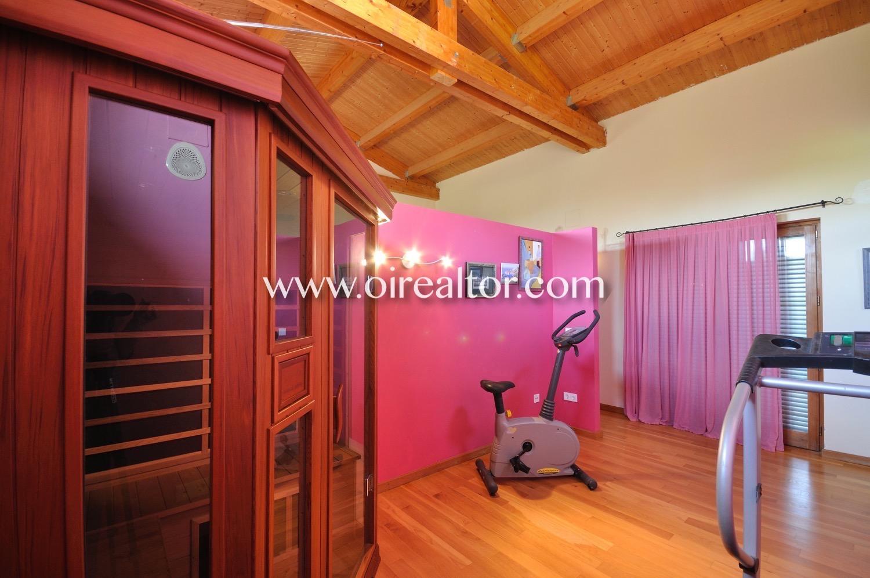 Pasillo, buhardilla, luminoso buhardilla luminosa, techos altos, techo de madera, gimnasio,
