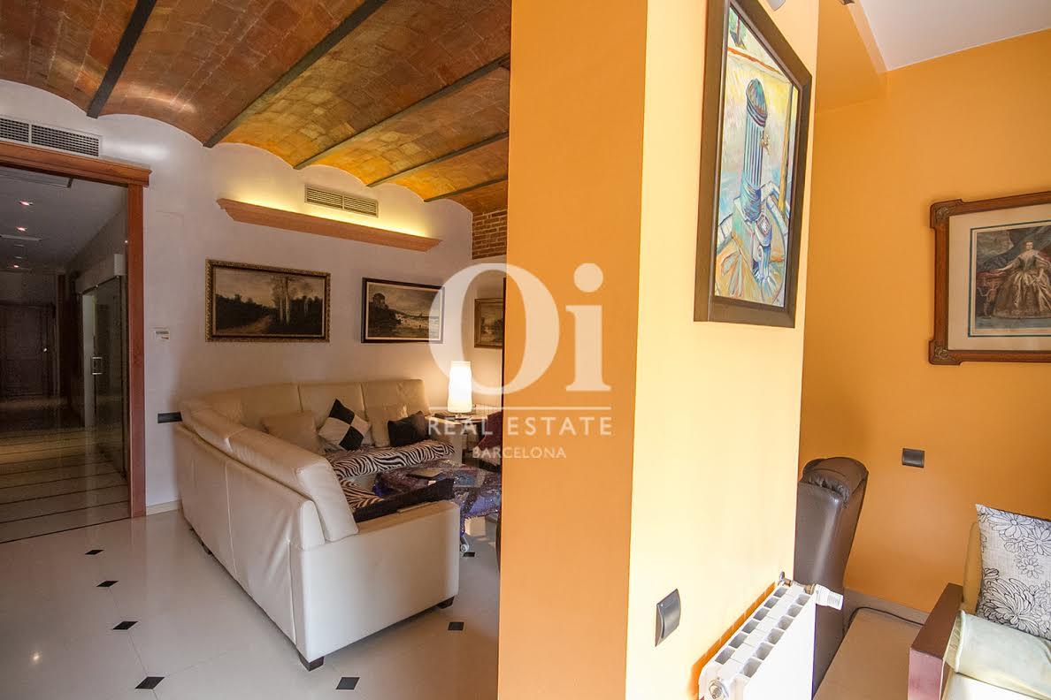 Habitación, soleada, habitación soleada, sofá,