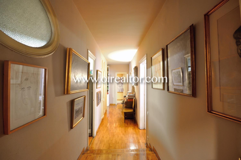 pasillo, piso señorial, parquet suelo de parquet, piso modernista, techos altos, techos con molduras,