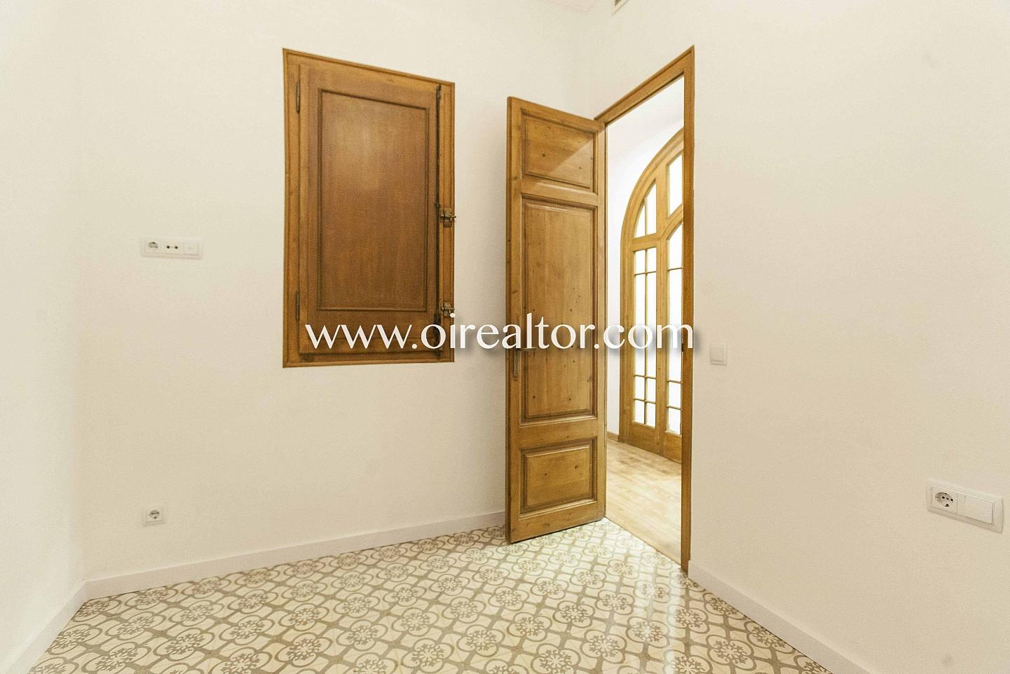 habitación, suelo de mosaico, mosaico, puerta, modernista, suelo modernista