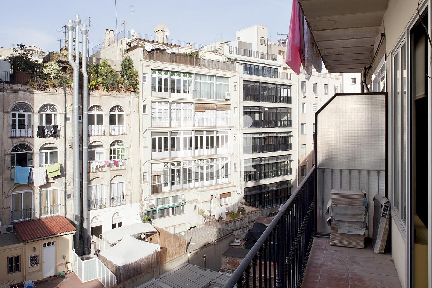 terraza, balcón, vistas, vistas a la ciudad, vistas a la calle