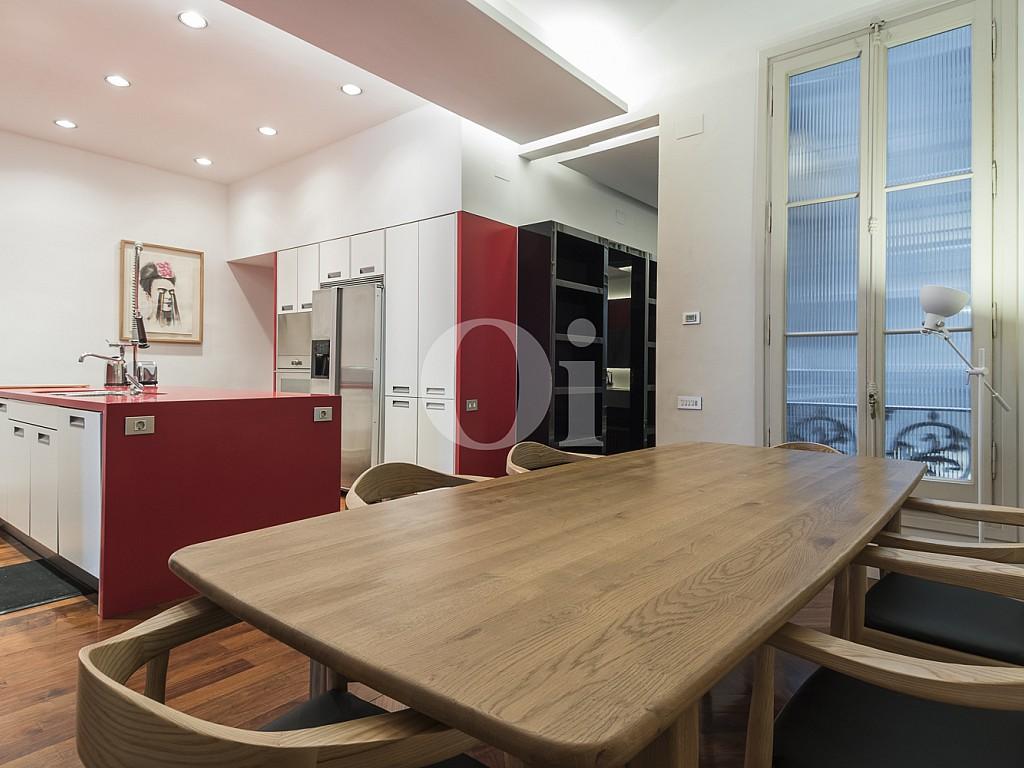 comedor, comedor luminoso, comedor soleado,  cocina americana, cocina integrada, open concept