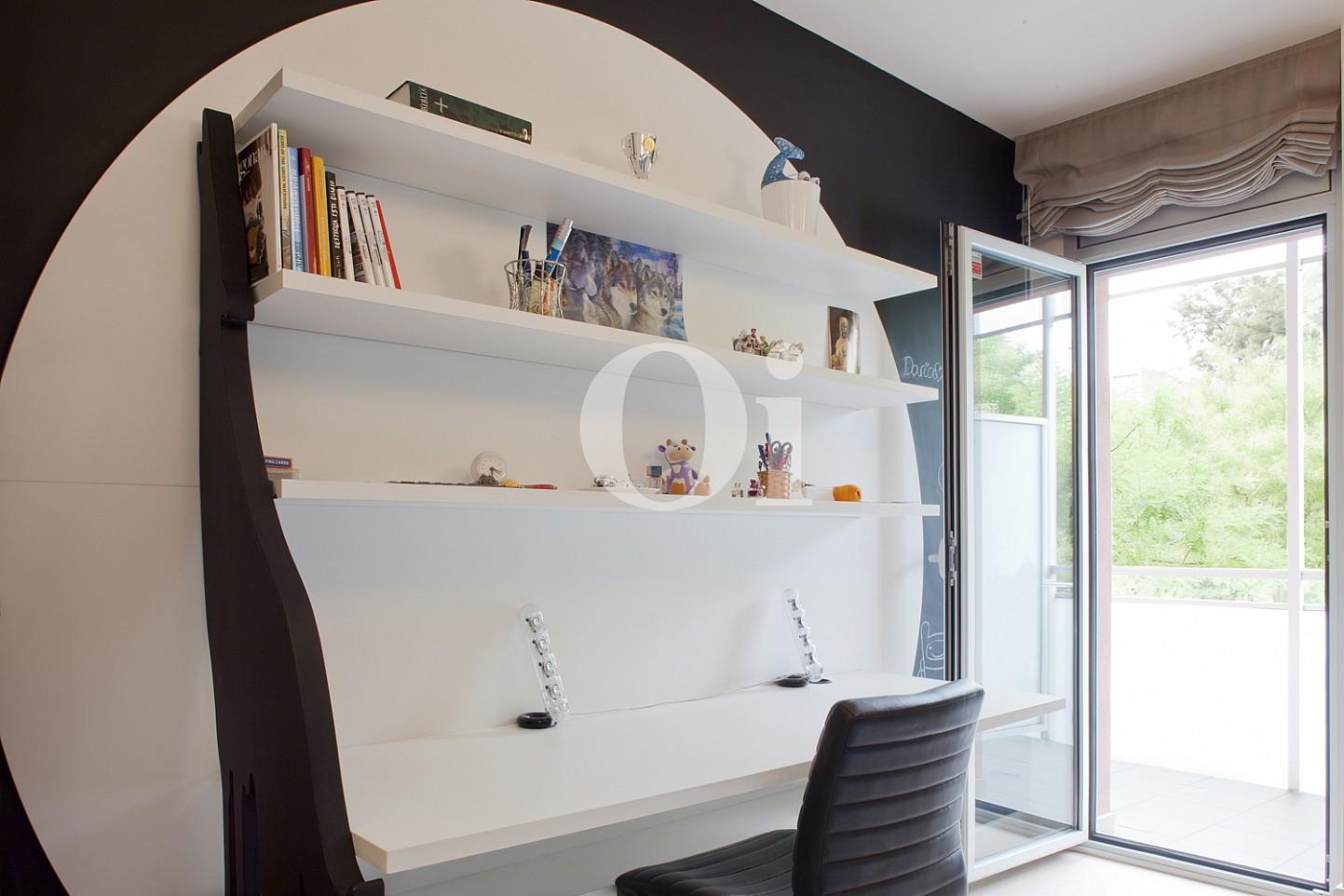 escritorio, librería, terraza, escritorio de diseño,