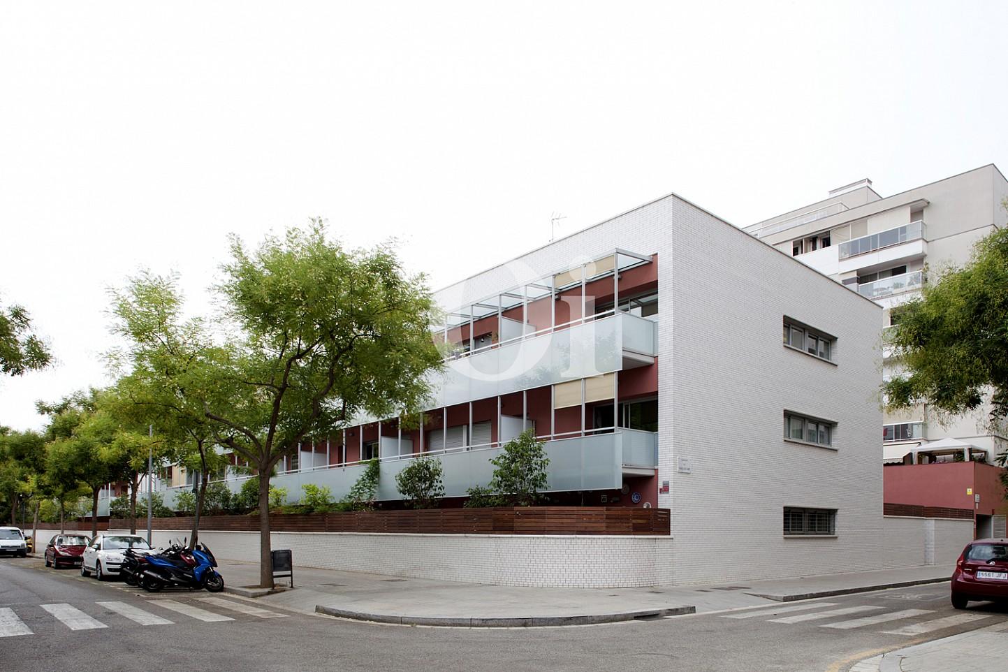 fachada, piso, apartamento, calle