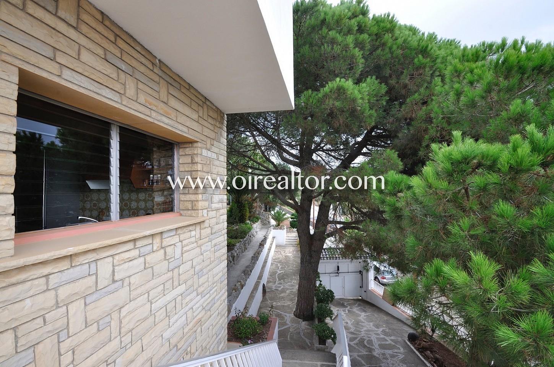 Fachada, puerta, puerta de entrada, tocho visto, jardín, árboles