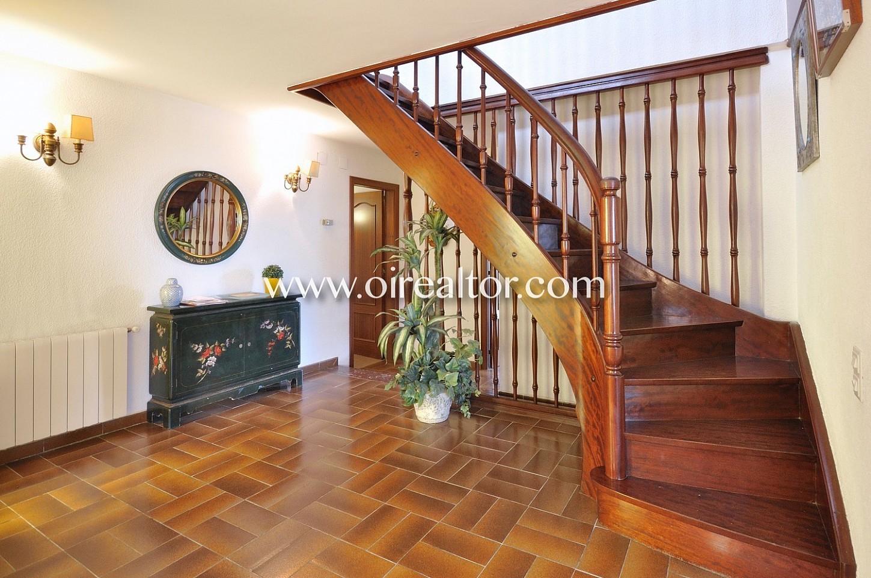 pasillo, escaleras, parquet, madera