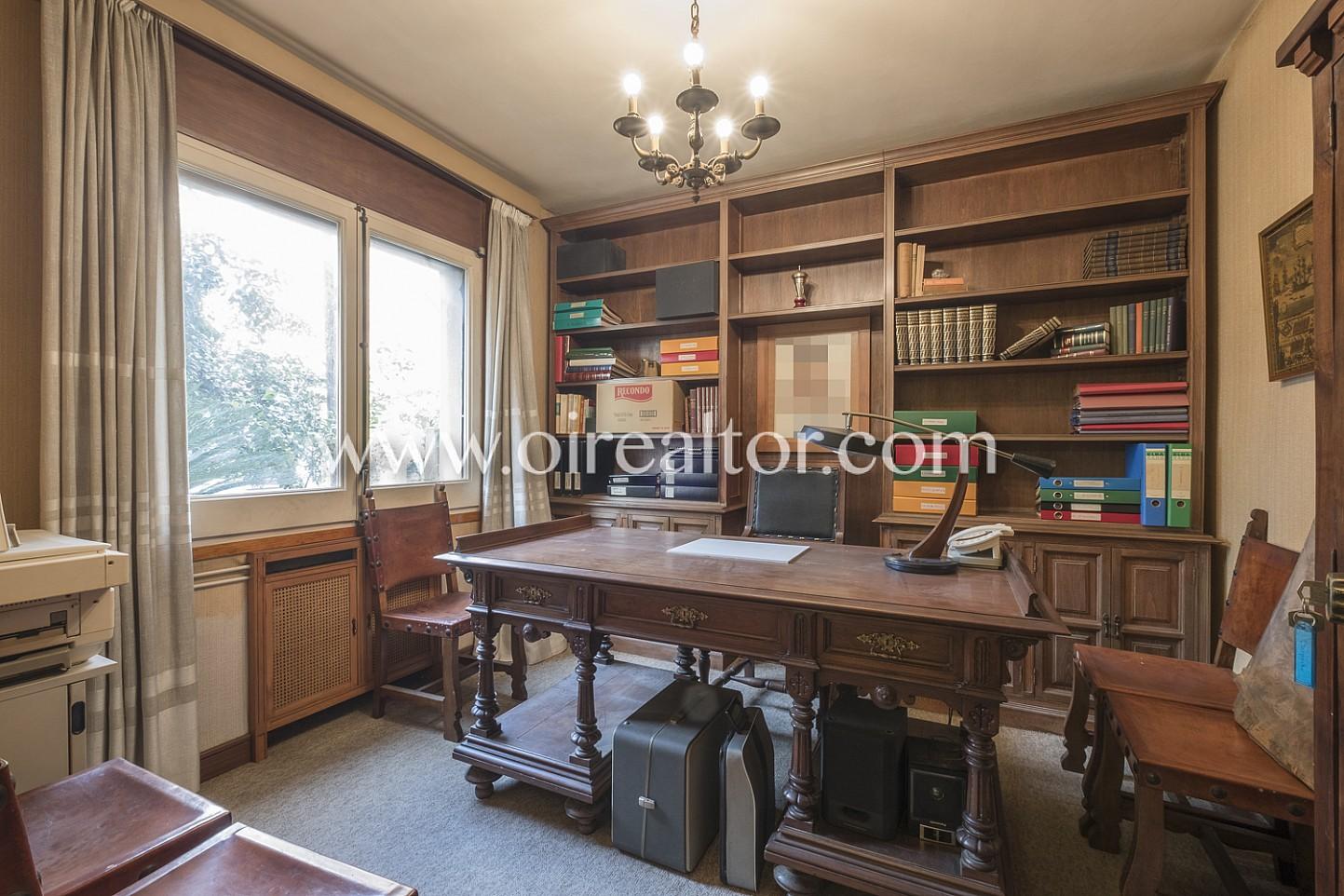 despacho, escritorio, despacho señorial, librería, biblioteca