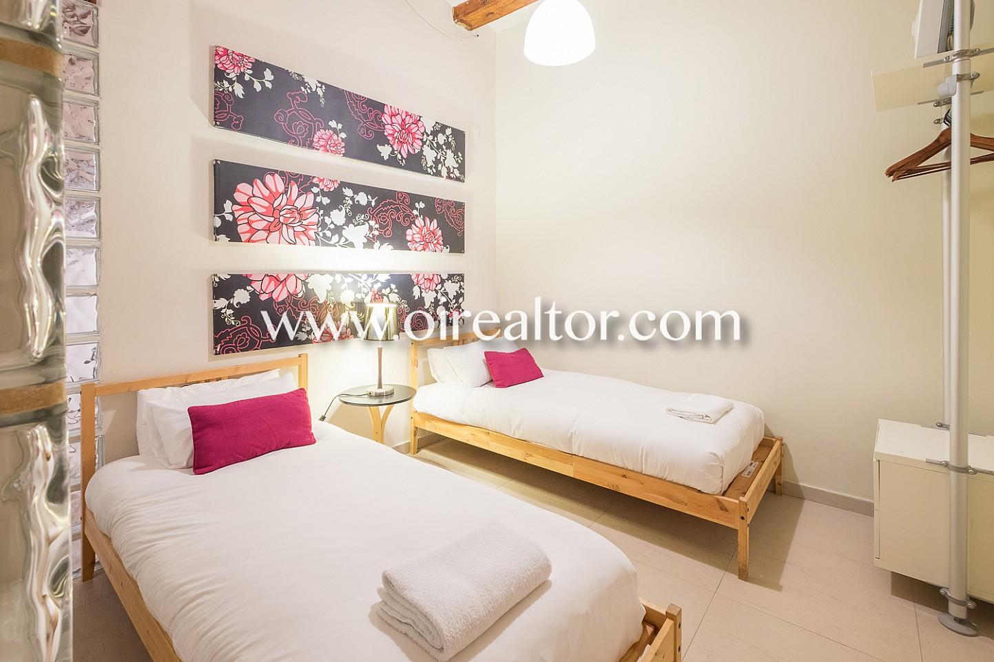 habitación doble, dormitorio amplio, dormitorio doble, dormitorio, habitación de diseño, habitación exterior