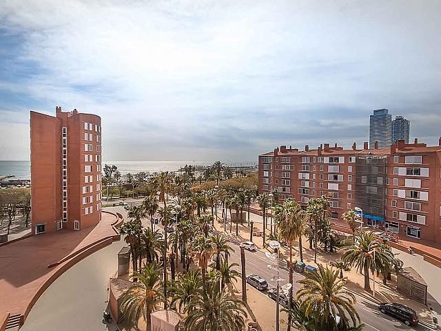 Aussicht in Luxus-Ferienwohnung zur Miete in Vila Olimpica in Barcelona