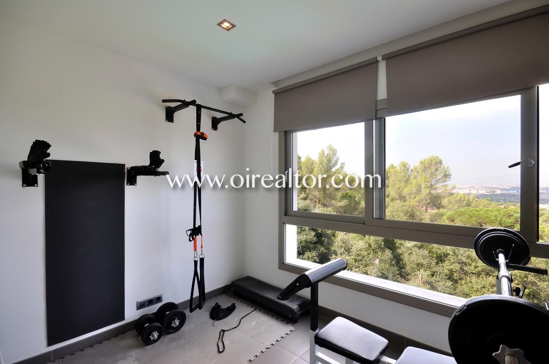 gimnasio, habitación simple, soleado