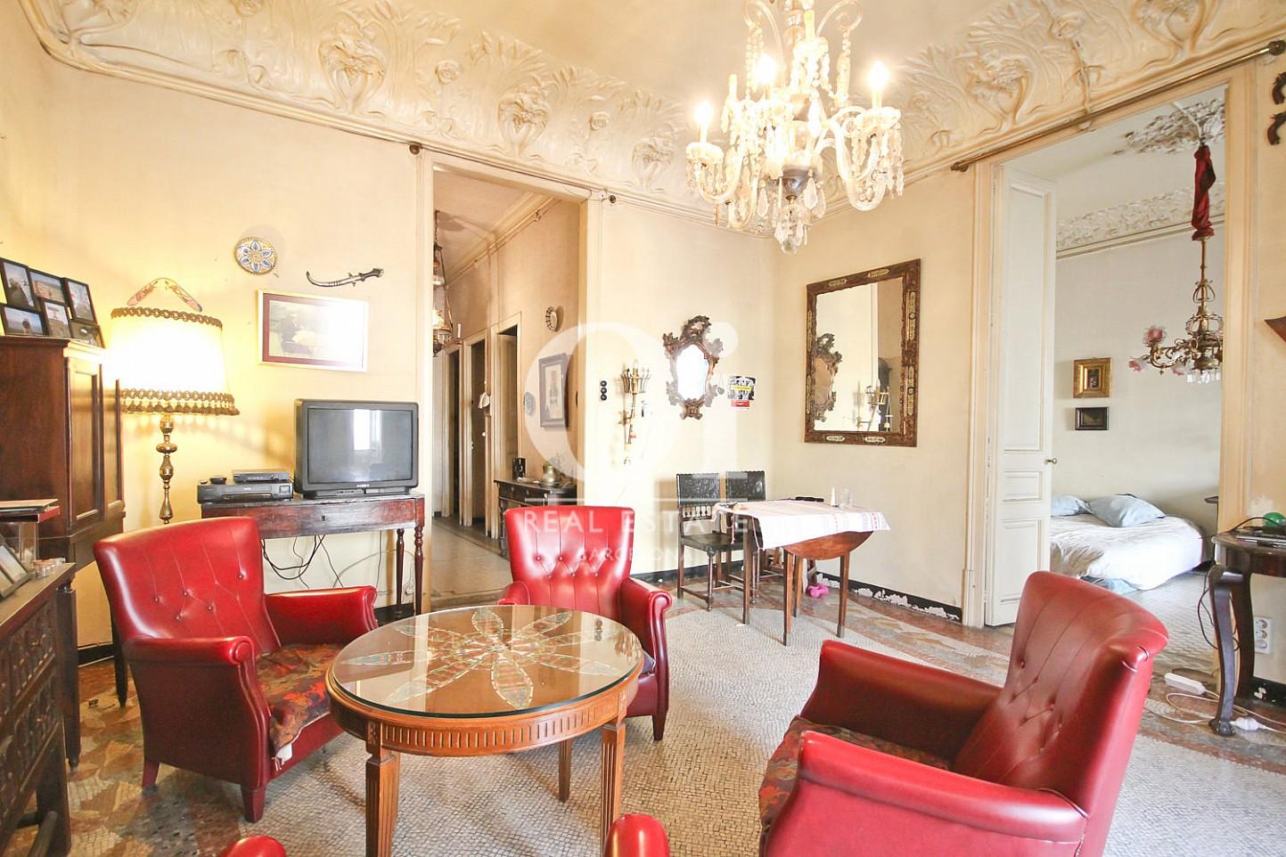 Fabuleux salon salle à manger dans un appartement de luxe en vente à Barcelone